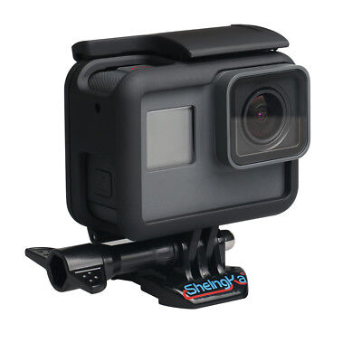 Black Protective Frame Housing Case Shell Mount with Lens Cover For GoPro HERO 7