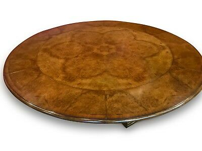7.6ft amazing  Burr Walnut Jupe circular dining table, pro French Polished