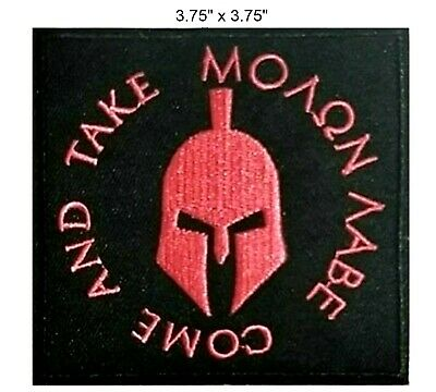 Veteran Owned Business BLACK MOLON LABE WITH CROSSED RIFLES AND SPARTAN HELMET HAT