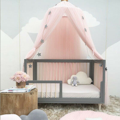 Kids Baby Bed Canopy Bedcover Girl Princess Fairy Mosquito Net Bedding Dome Tent