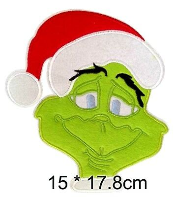 Christmas Series Rudolph Santa Candy Cane XL Embroidered Patch Iron or Sew-On