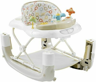 My Child Walk-n-Rock 2in1 Baby Walker Rocker With Music Lights Play Tray Neutral