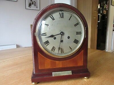 Antique Gustav Becker Mahogany Westminister Chiming Mantel Clock