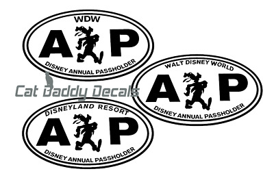Groofy Decal Disneyland Decal Disney World Decal Annual Passholder Decal AP