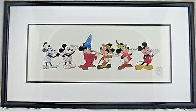 Disney Mickey Through The Years Limited Edition Sericel, 65th Anniversary