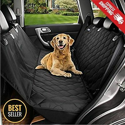 Seat Cover Rear Back Car Pet Dog Travel Waterproof Bench Protector Luxury -Black