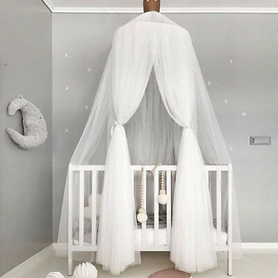 White Mosquito Net Tent Kids Baby Bed Canopy Bedcover Boys Girls Bedding Curtain