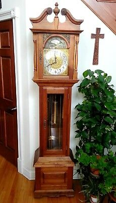 Vintage Emperor Walnut Grandfather Clock - Immaculate!