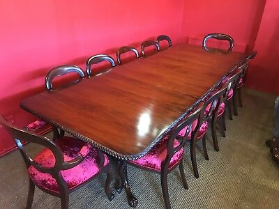 BEAUTIFUL 10ft GRAND REGENCY STYLE BRAZILIAN MAHOGANY TABLE PRO FRENCH POLISHED