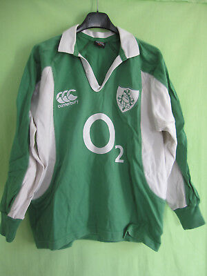 Maillot rugby Irlande O2 Canterbury Ireland vintage Eire Jersey Coton - S