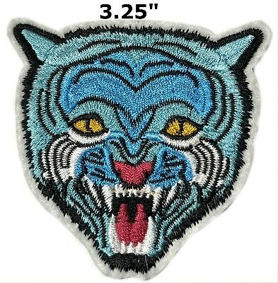 BENGAL TIGER iron-on PATCH embroidered ROARING WILD ANIMAL SOUVENIR APPLIQUE new