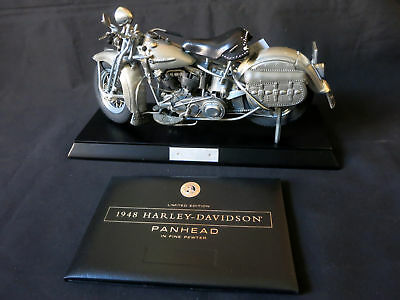 1948 Harley-Davidson Panhead in 1:6 Scale Pewter Fine Model by The Franklin Mint