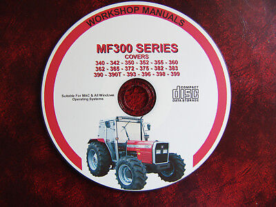 Massey Ferguson Mf350 350H 355 360 372 390 399 Workshop Service Repair Manual