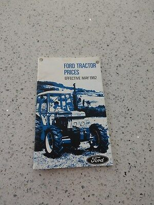 Ford tractor price list 1982 1100 4610 7610 7710 8210 TW 10 20 30 FW-30 & 60