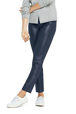 Lands/'End NWT Women/'s Plus High Rise Slim Leg Ankle Jeans Navy Shimmer $89.95