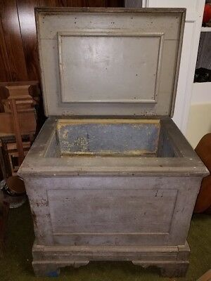 antique wooden ice box - early example refrigerator