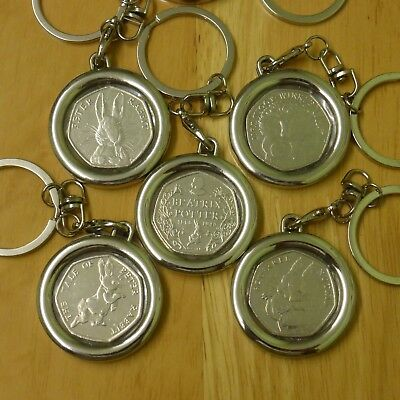 Beatrix Potter, Jemima Puddle Duck, Peter Rabbit, Squirrel Nutkin 50p Key Rings