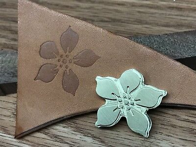 Brass SMALL TROPICAL FLOWER Leather letterpress Stamp embossing die ST7