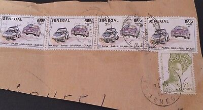 Senegal 1998 - 8 real used stamps on paper