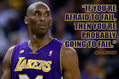 Kobe Bryant Poster Quote Cool Los Angeles Lakers Quotes Posters Basketball Sport