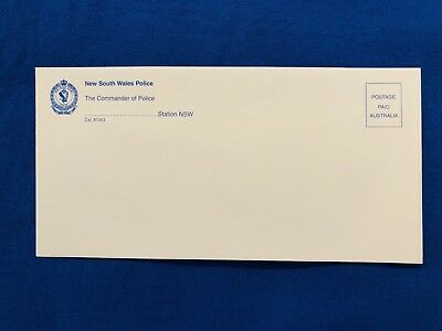 NSW Police Envelope With Emblem. 1990s Vintage - Obsolete. Unused. Collectable.
