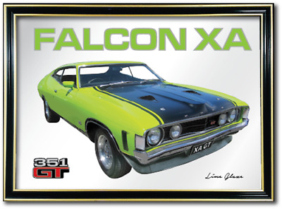 Bar Mirror Ford Falcon Xa Gt Barware Sign Auto Collectable Art Mancave Metal