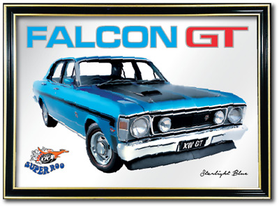 Bar Mirror Ford Falcon Xw Gt Barware Auto Collectable Sign Art Mancave Pool Room