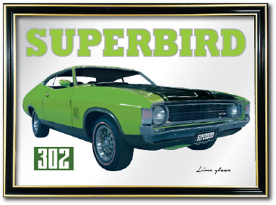 Bar Mirror Suit Ford Xa Superbird Enthusiast Barware Sign Art Mancave Pool Room