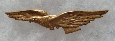 Insigne Armée Air BREVET PILOTE WWI 1914/1918 type FIX ORIGINAL FRENCH WING n°2