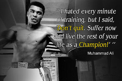 Muhammad Ali Poster Quote Boxing Sports Quotes Posters Decoration
