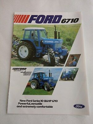 Ford 6710 4 WD tractor brochure 1982 New Holland