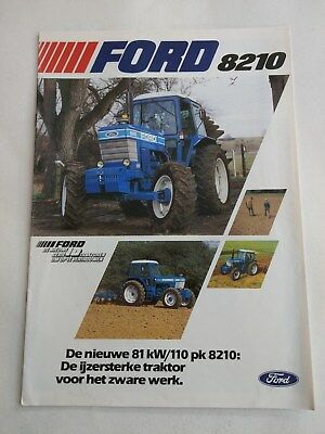 Ford 8210 4WD tractor brochure 1982 New Holland Dutch