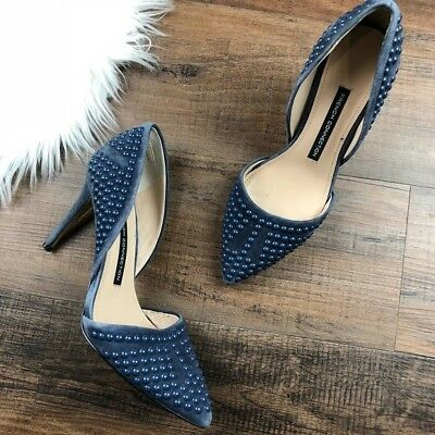 b2c234494c4 French Connection Size 6 Pointed Toe Ellis Blue Heels Studded Stiletto  Womens