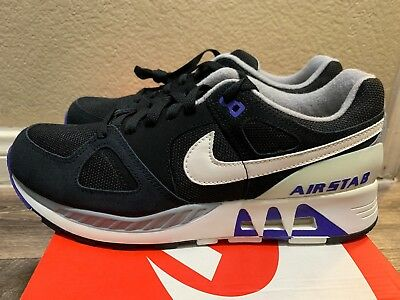 0d7c5f1a96ece3 Nike Air Stab Size 10 Running Shoes Black Persian Violet 312451 005 NEW  Supreme