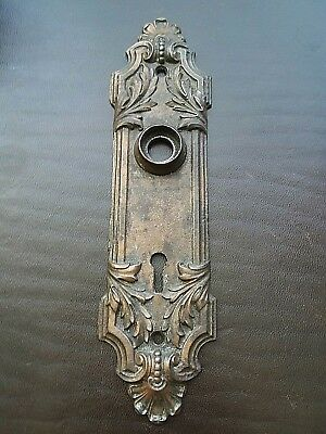 Beautiful Antique Victorian Door Knob Back Plate Russell Erwin Itasca Skeleton