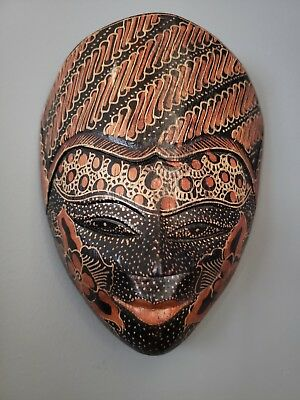 Wooden Wall Hanging Decor Indonesian Mask