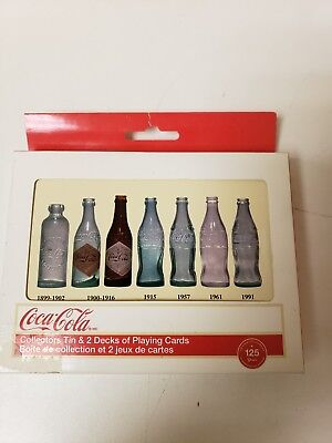 Coca-Cola Collectors Tin & 2 Decks of Playing Cards