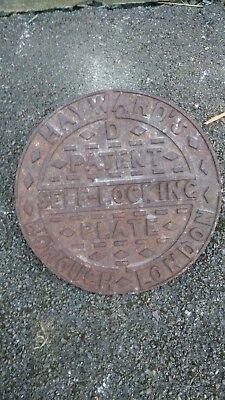 Vintage Cast Iron Coal Hole Manhole Cover  Architectural / Garden Antique