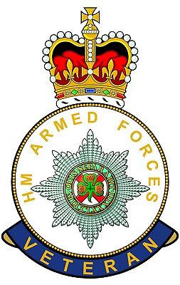 Irish Guards HM Armed Forces Veterans Clear Cling Sticker