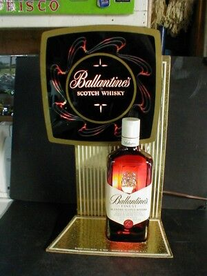 Vintage Ballantine's Scotch Whisky Lighted Motion Bottle Display Counter Sign
