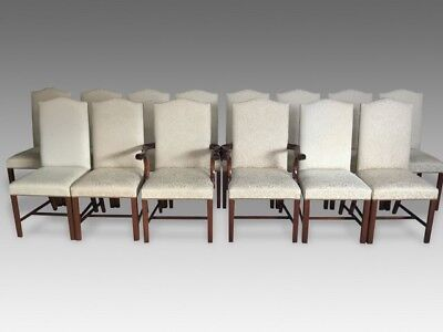 Harrods Ultra Opulent set 12 Hepplewhite style Chairs Pro French polished