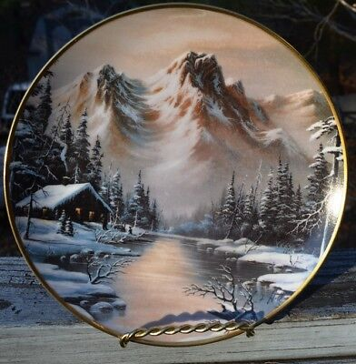 Gorgeous 1992 Peaceful Solitude Collector Plate  Franklin Mint Heirloom Recommen