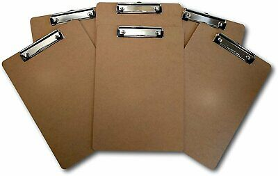Set of 5 Office Solutions Direct Standard A4 Letter Size Clipboard