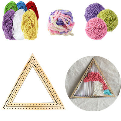 Craft Hanging Decoration Woven Tools DIY triangle  weaving loom knitting wooden