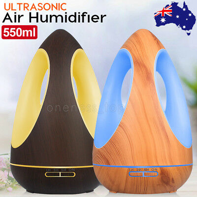 550ml 7 Color LED Ultrasonic Aroma Aromatherapy Diffuser Air Humidifier Purifier