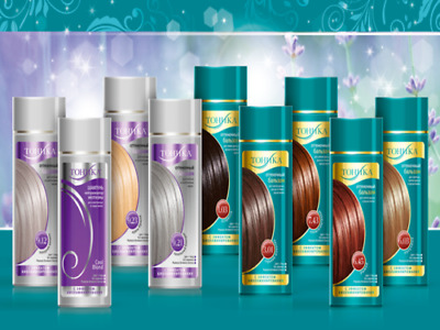 Hair colouring balsam , tinting conditioner colourant Tonika without ammonia