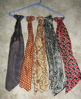 Five (5) Beautiful 100% Silk Scarves / Hair Wraps (?) ~ Never Worn!!!