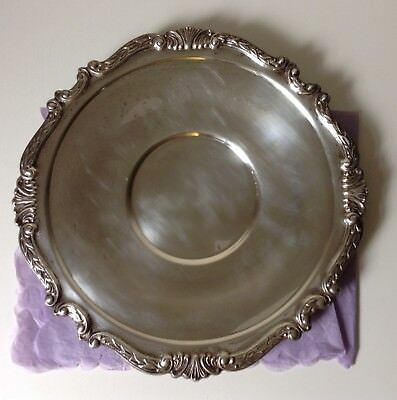 "Vintage silver plated tray - Post '40 Sheridan Taunton Silversmiths LTD. 12""x12"""