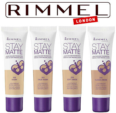 Rimmel - Stay Matte Liquid Mousse Foundation - Various Shades - 30ml