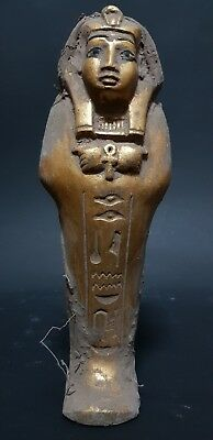 ANCIENT EGYPTIAN ANTIQUES USHABTI (SHABTI) Wrapped In Linen STATUE EGYPT STONE B